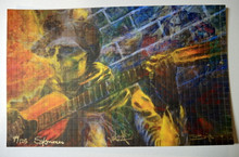 CROSSROADS REMIX - BLOTTER PRINTS - RICHARD BIFFLE - SOY BASED INK - SIGNED AND NUMBERED  - GRATEFUL DEAD - DEAD AND CO