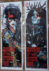 QUEENS OF THE STONE AGE - 2 POSTER SET - MATCHING NUMBERS - 2017 RHYS COOPER - MELBOURNE AND DARWIN.
