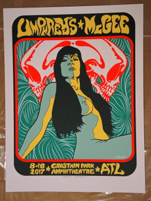 UMPHREY'S MCGEE - 2017 - CHASTAIN PARK - JERMAINE ROGERS - TOUR POSTER