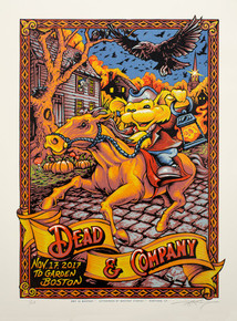 DEAD AND COMPANY - BOSTON - 2017 TOUR POSTER - AJ MASTHAY - ARTIST PROOF