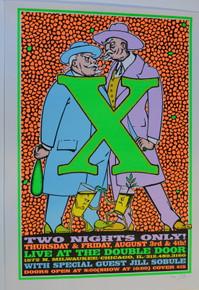 X - DOUBLE DOOR - CHICAGO - 1995 - TOUR POSTER - LINDSEY KUHN