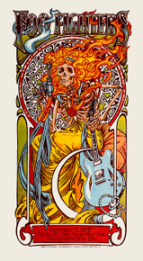 FOO FIGHTERS - 2017 - CAL JAM 17 - AJ MASTHAY - TOUR POSTER - SAN BERNARDINO