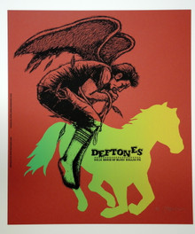 THE DEFTONES -  RED VARIANT - JERMAINE ROGERS - POSTER - DALLAS - 2007 - PROOF