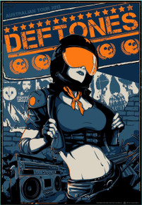 THE DEFTONES - AUSTRALIAN TOUR 2013 - ARTIST PROOF - VANCE KELLY - SILK SCREEN