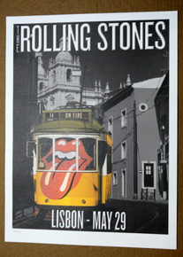 ROLLING STONES - 14 ON FIRE - ROCK IN RIO - LISBON - SPAIN - #396/500 - POSTER