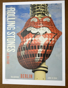 ROLLING STONES - 14 ON FIRE - WALDBUHNE - BERLIN - #396/500 -  TOUR POSTER - KEITH RICHARDS