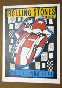 ROLLING STONES - 14 ON FIRE - ERNST HAPPEL STADIUM - VIENNA - AUSTRIA  - #396/500 -  TOUR POSTER