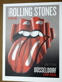 ROLLING STONES - 14 ON FIRE -  ESPRIT ARENA - DUSSELDORF - #396/500 -  TOUR POSTER