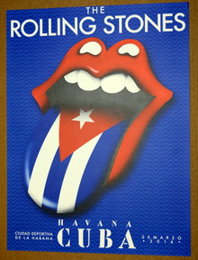 THE ROLLING STONES - HAVANA - CUBA -  2016  - TOUR POSTER - MICK JAGGER