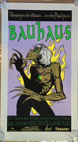 BAUHAUS - AERIAL THEATER - POSTER - BAYOU PLACE - 1998 - JERMAINE ROGERS