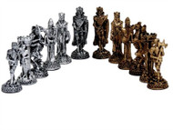 Dal Rossi Medieval Pewter Chess Pieces