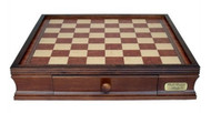 Dal Rossi 50cm Wooden Chess Board with Storage Drawers (Board Only)