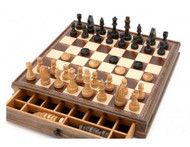 Dal Rossi Wooden Chess and Checkers 38cm Set