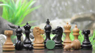 Rex Noir Paris 98mm Ebony/Boxwood Chess Pieces Only
