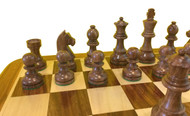 Rex Noir Elite 85mm Sheesham/Boxwood Chess Pieces Only