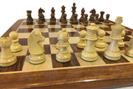 Rex Noir Elite 75mm Sheesham/Boxwood Chess Pieces Only