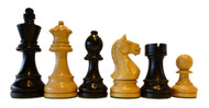 Rex Noir Expert 85mm Ebony/Boxwood Chess Pieces Only