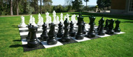 SUPER COMBO Giant Chess Set with Plastic Board, Checkers and Storage Bags