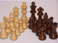 Dal Rossi 95mm Sheesham Double Weighted Chess Pieces