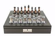 Dal Rossi Metallic Marble Finish Chess Set