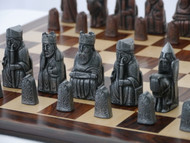 Berkeley Chess Isle of Lewis Metal Finish Chessmen