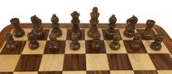 Rex Noir Expert 75mm Sheesham/Boxwood Chess Pieces Only