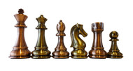 Dal Rossi 105mm Bronze/Copper Chess Pieces