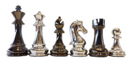 Dal Rossi 105mm Silver/Titanium Finish Chess Pieces