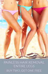 March Painless Hair Removal - Entire Legs - Buy Two, Get One Free