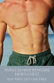 March Painless Hair Removal - Men's Chest - Buy Two, Get One Free