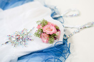 Pink Corsage with Green Accent