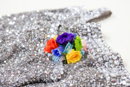 A Beautiful Display of colors in one Fresh Flower Corsage.