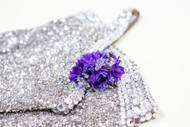 All purple fresh flower  corsage