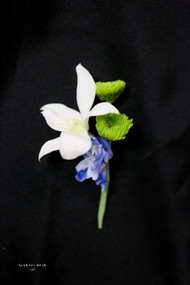 Bit of Blue Boutonniere
