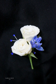 Touch of Blue Boutonniere
