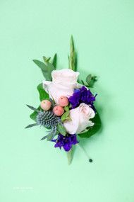Wild Berry and Rose Wedding Pin On Corsage