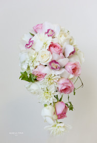 White Cascading Orchid Bouquet