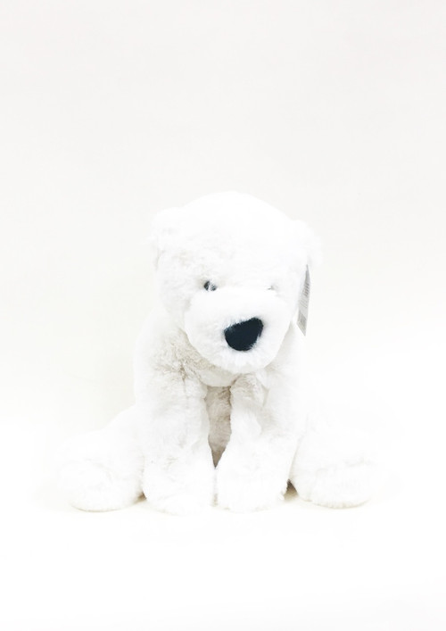 For the cosiest cuddles in the whole North Pole, skate on over to Perry Polar Bear! Unbelievably snuggly, this cloudy cream cub is as soft as freshly fallen snow. He sits so neatly on his beany bottom, and has the cutest bobble nose and nubbly tail. Hold him close and turn chilly days into silly days!