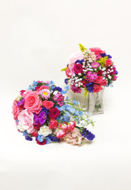 Beautiful mix of colors in this vibrant summer bouquet