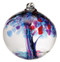 6 inch Kitras Glass ball in decorative designed blue.