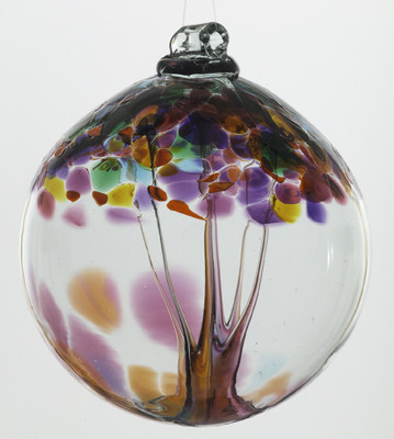 3 inch Kitras Glass Ball in multi decorative colors.