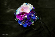 Unique Purples with Bling Corsage On Keepsake Bracelet