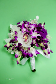 Mixed Purple Orchid Bridal Bouquet