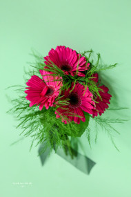 Hot Pink Gerbera Bridesmaid Bouquet