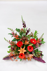 Fall Oranges Funeral Arrangement