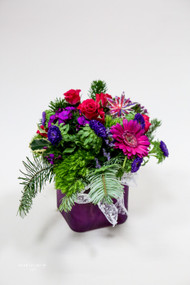Jackie Frost Fresh Flower Arrangement Fresh Flower Holiday Arrangement- Shop locally at Earle's Loveland Flowers and Gifts.