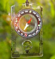 Liquid filled compass, lightweight,