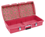 C2 Dual-tray Container, Red, Empty
