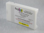 Repleo Recycled 220 ml Cartridge for the Epson Pro 7800/9800 filled with Cave Paint Elite Enhanced pigment ink - Yellow