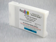 Repleo Recycled 220 ml Cartridge for the Epson Pro 7880/9880 filled with Cave Paint Elite Enhanced pigment ink - Cyan